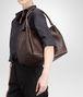BOTTEGA VENETA Parachute Tasche aus Nappaleder Intrecciato Ebano Schultertasche D ap