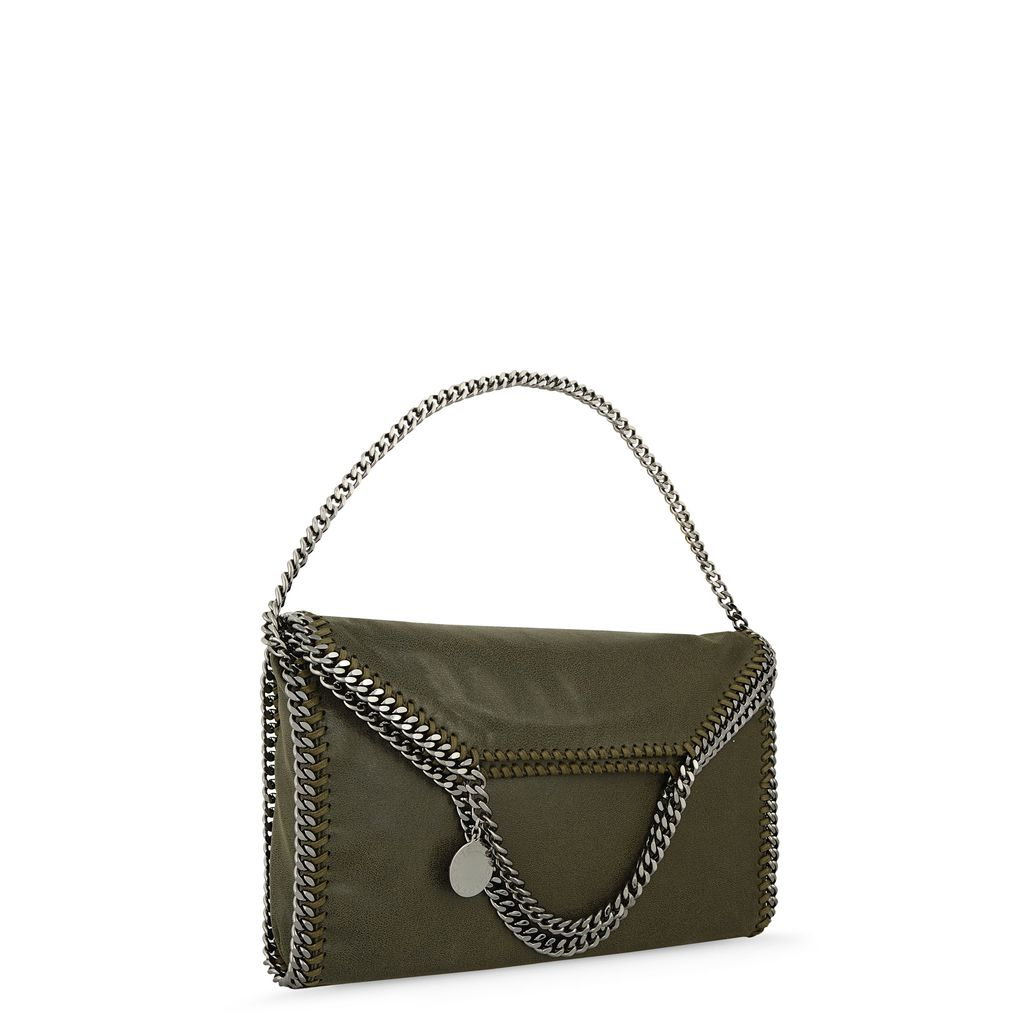 Black Falabella Shaggy Deer Fold Over Tote  - STELLA MCCARTNEY