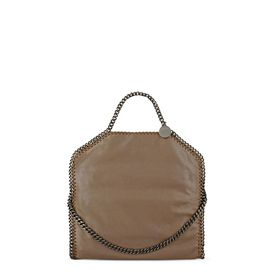 STELLA McCARTNEY Tote D Ruthenium Falabella Shiny Dotted Chamois Fold Over Tote f