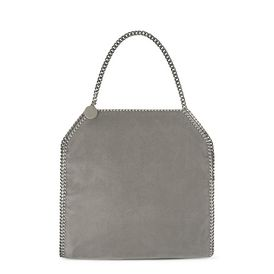 STELLA McCARTNEY Tote D Light Grey Falabella Shaggy Deer Big Tote f