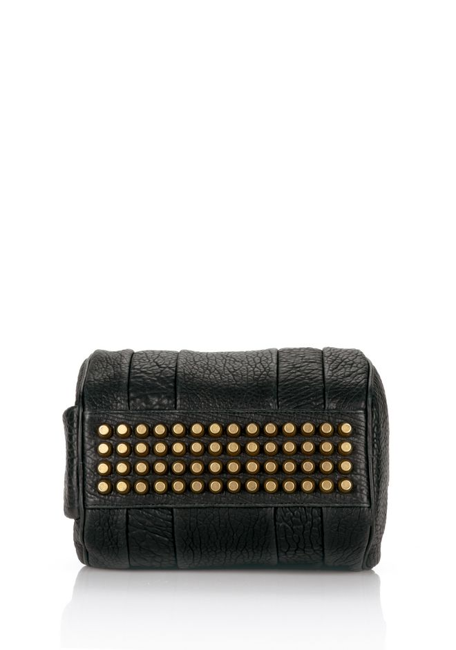 ALEXANDER WANG ROCKIE IN PEBBLED BLACK WITH ANTIQUE BRASS Shoulder bag Adult 12_n_d