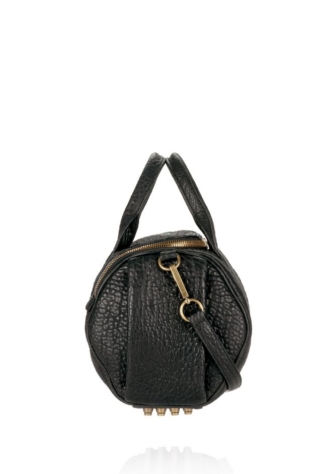ALEXANDER WANG ROCKIE IN PEBBLED BLACK WITH ANTIQUE BRASS Shoulder bag Adult 12_n_e