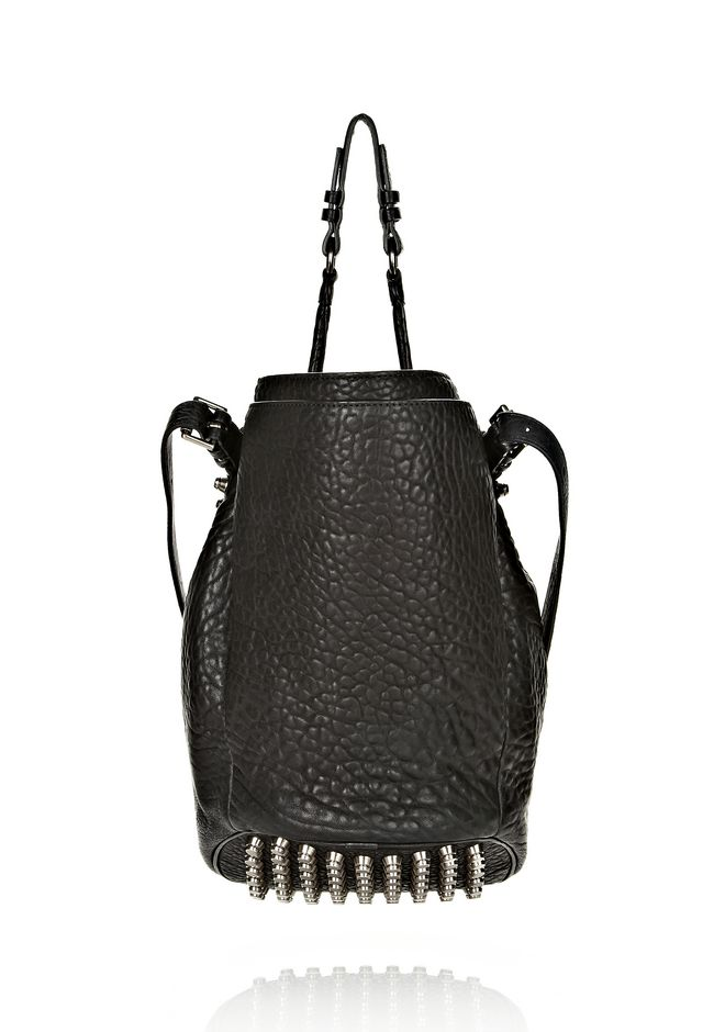 ALEXANDER WANG DIEGO IN BLACK PEBBLE LEATHER WITH BLACK NICKEL Shoulder bag Adult 12_n_d