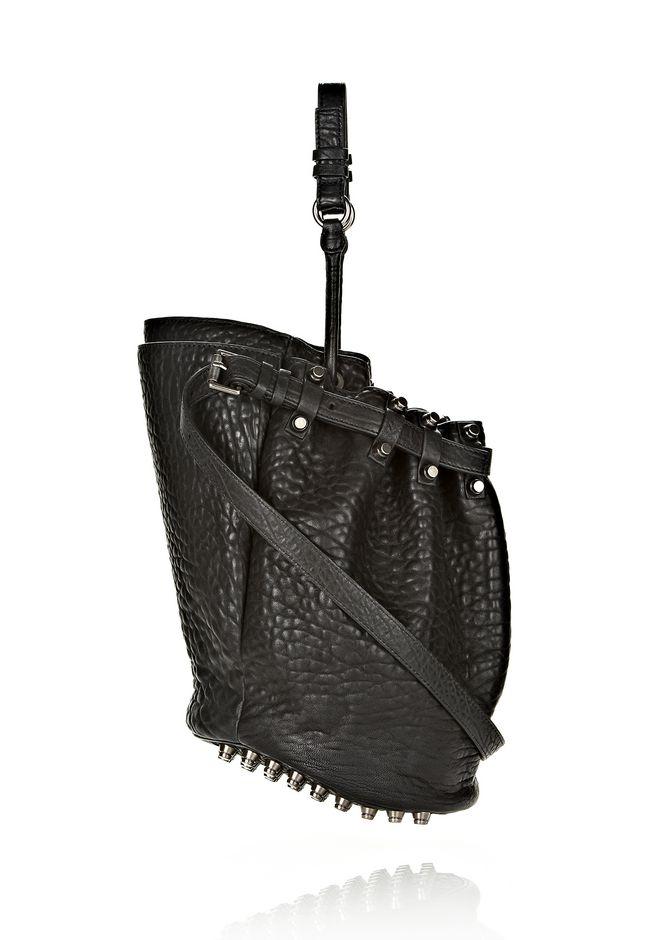 ALEXANDER WANG DIEGO IN BLACK PEBBLE LEATHER WITH BLACK NICKEL Shoulder bag Adult 12_n_e