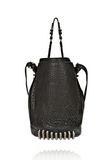 ALEXANDER WANG DIEGO IN BLACK PEBBLE LEATHER WITH BLACK NICKEL Shoulder bag Adult 8_n_d