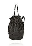 ALEXANDER WANG DIEGO IN BLACK PEBBLE LEATHER WITH BLACK NICKEL Shoulder bag Adult 8_n_f