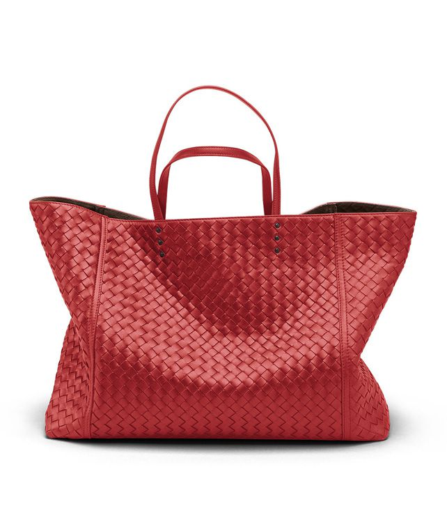 BOTTEGA VENETA TOTE BAG AUS INTRECCIATO NAPPA IN FLAMEBLACK Shopper D fp