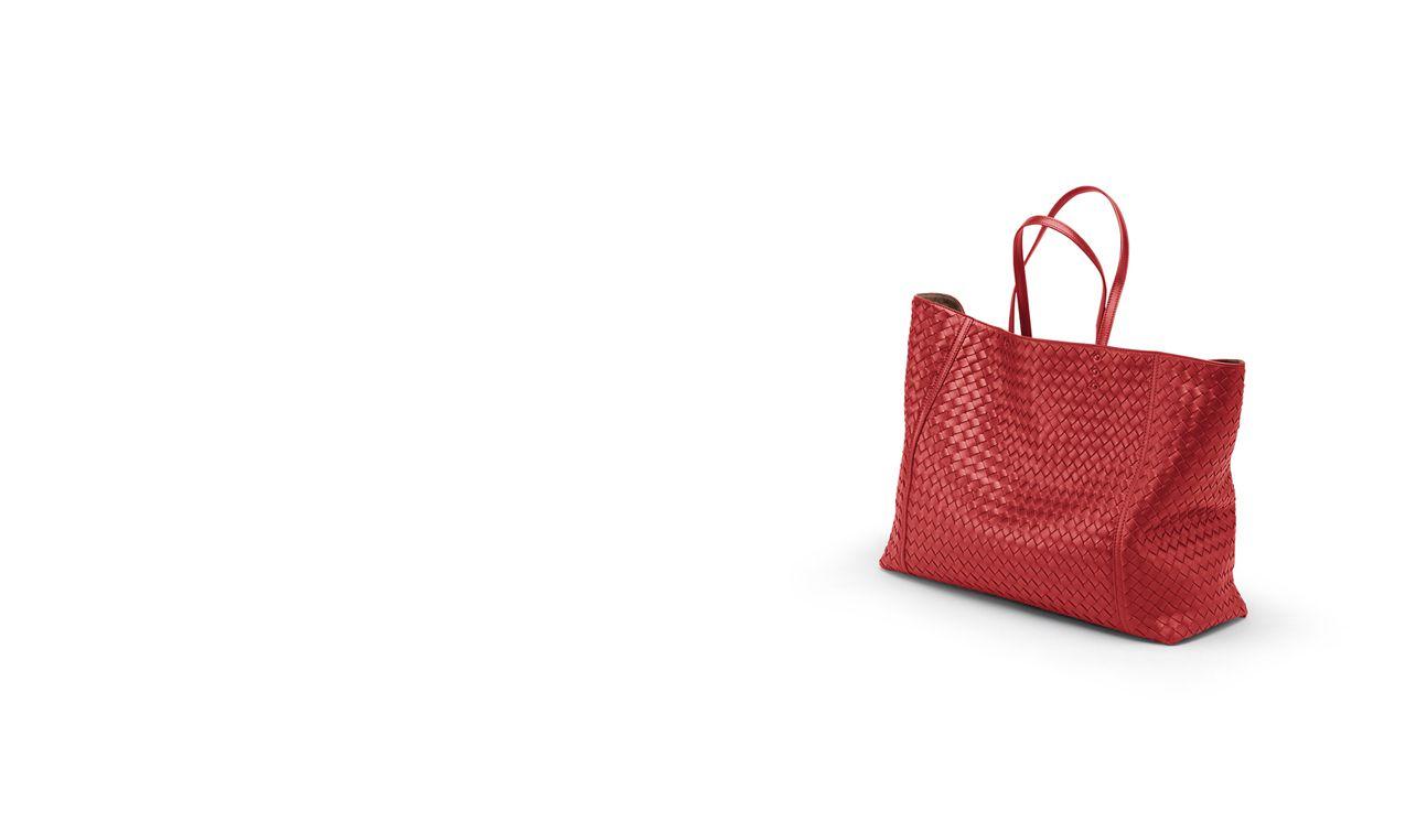 BOTTEGA VENETA Tote Bag D TOTE BAG IN BLOOD INTRECCIATO NAPPA pl