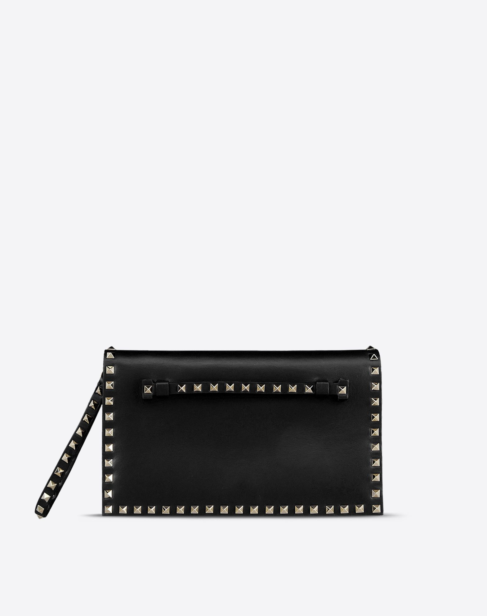 VALENTINO Solid color Magnetic closure Internal zip pocket Logo detail Metallic inserts  45191343fx
