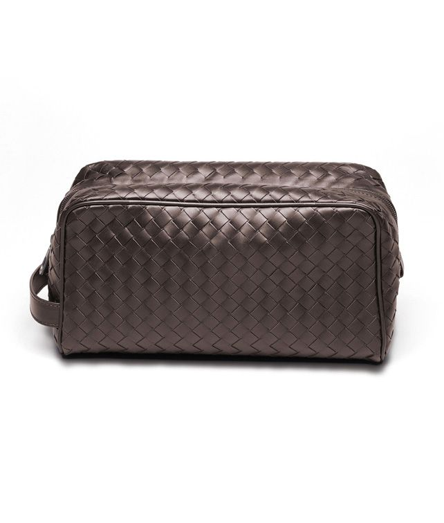 BOTTEGA VENETA Vermillon Intrecciato VN Toiletry Case Cosmetic Case D fp
