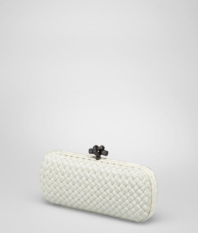BOTTEGA VENETA Intrecciato Silk Stretch Knot Clutch D fp