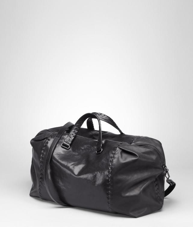 BOTTEGA VENETA Waxed Vitello Laque Duffel Duffel Bag E fp