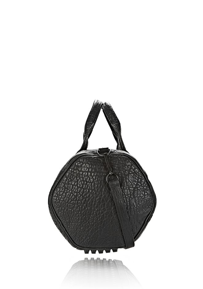 ALEXANDER WANG ROCCO IN BLACK PEBBLE LAMB WITH MATTE BLACK Shoulder bag Adult 12_n_d