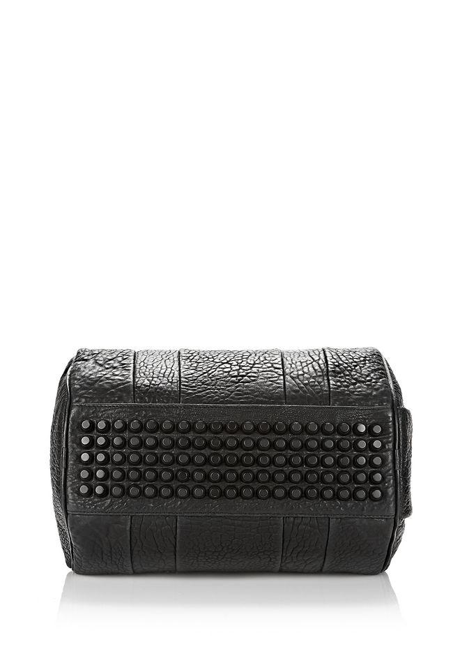 ALEXANDER WANG ROCCO IN BLACK PEBBLE LAMB WITH MATTE BLACK Shoulder bag Adult 12_n_e
