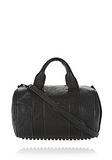 ALEXANDER WANG ROCCO IN BLACK PEBBLE LAMB WITH MATTE BLACK Shoulder bag Adult 8_n_f