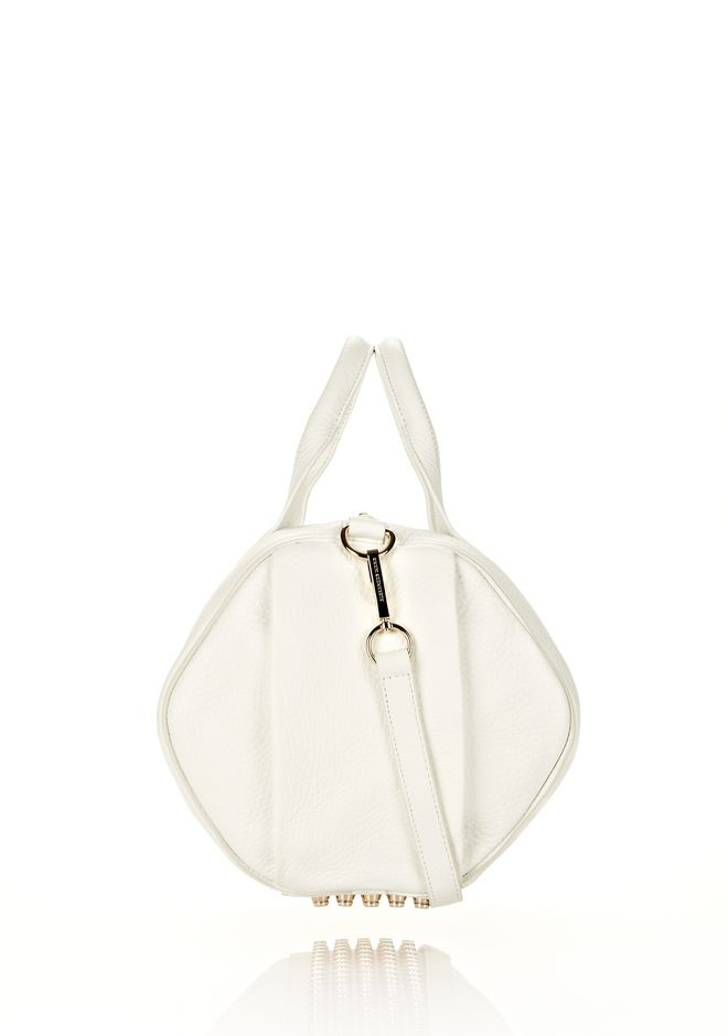 ALEXANDER WANG ROCCO IN SOFT PEROXIDE WITH PALE GOLD Shoulder bag Adult 12_n_d