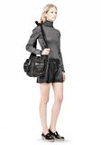 ALEXANDER WANG DONNA IN WASHED BLACK WITH RHODIUM  Shoulder bag Adult 8_n_r