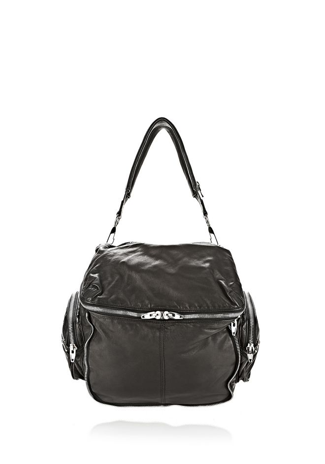 ALEXANDER WANG JANE IN BLACK WASHED LAMB  WITH RHODIUM  Shoulder bag Adult 12_n_f
