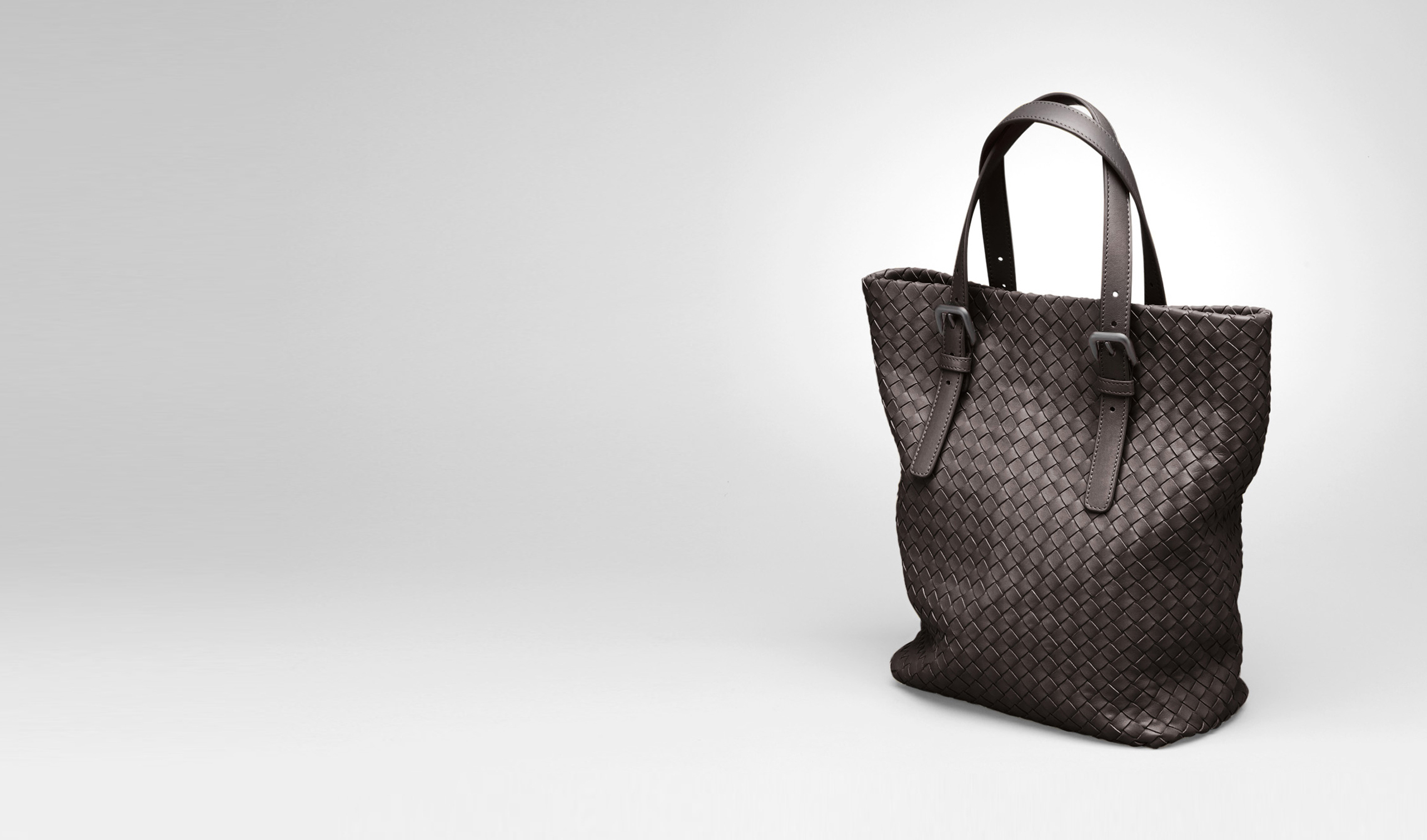 BOTTEGA VENETA Borsa Shopping D Shopper Ebano in Nappa Intrecciata pl