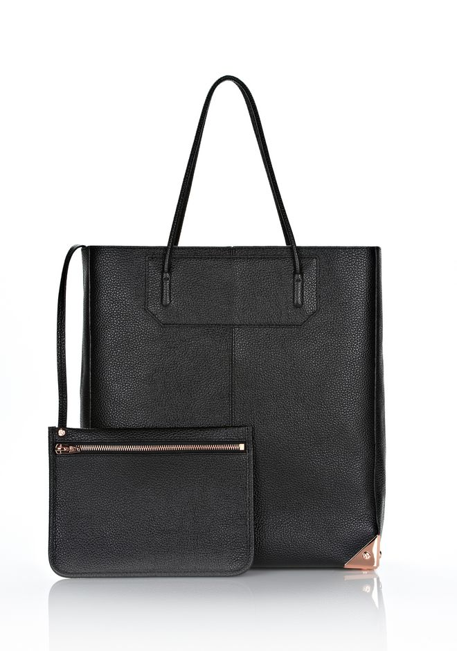 ALEXANDER WANG PRISMA TOTE IN PRINTED BLACK WITH ROSE GOLD TOTE/DEL Adult 12_n_e