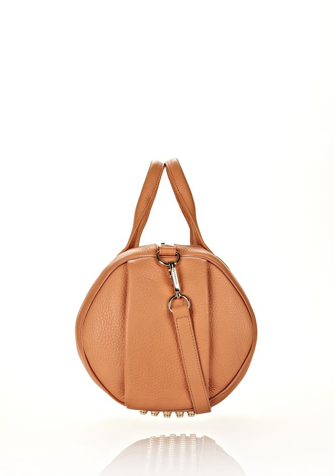 ALEXANDER WANG ROCCO IN TAN SOFT PEBBLE LAMB WITH PALE GOLD Shoulder bag Adult 12_n_e