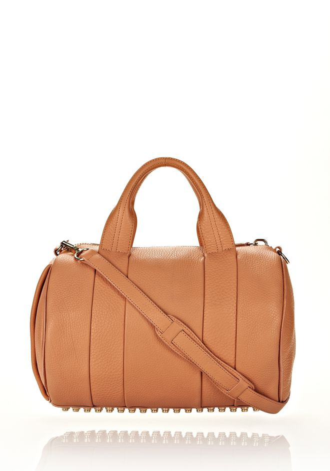 ALEXANDER WANG ROCCO IN TAN SOFT PEBBLE LAMB WITH PALE GOLD Shoulder bag Adult 12_n_f