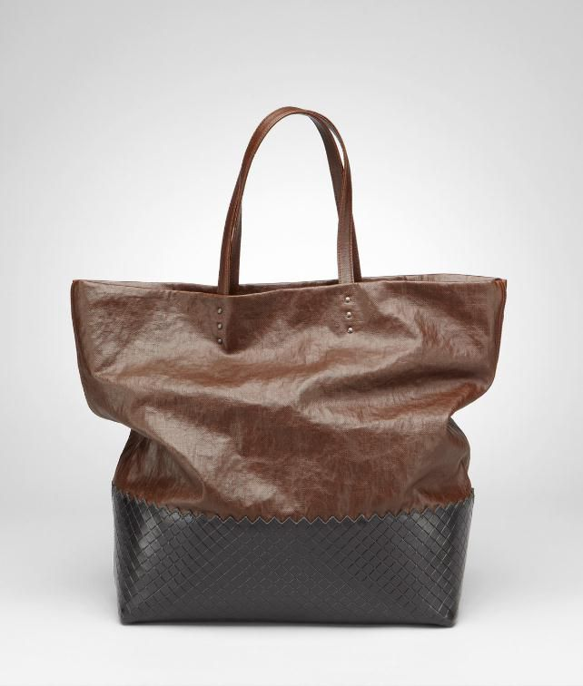 BOTTEGA VENETA Lino Spalmato Light Calf Scolpito Tote Tote Bag D fp