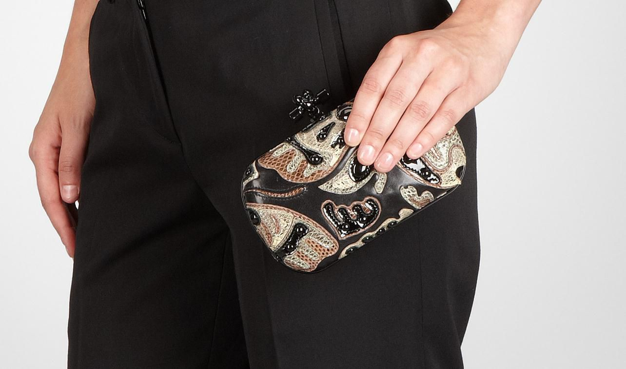 BOTTEGA VENETA Clutch D Ayers Butterfly Knot pl