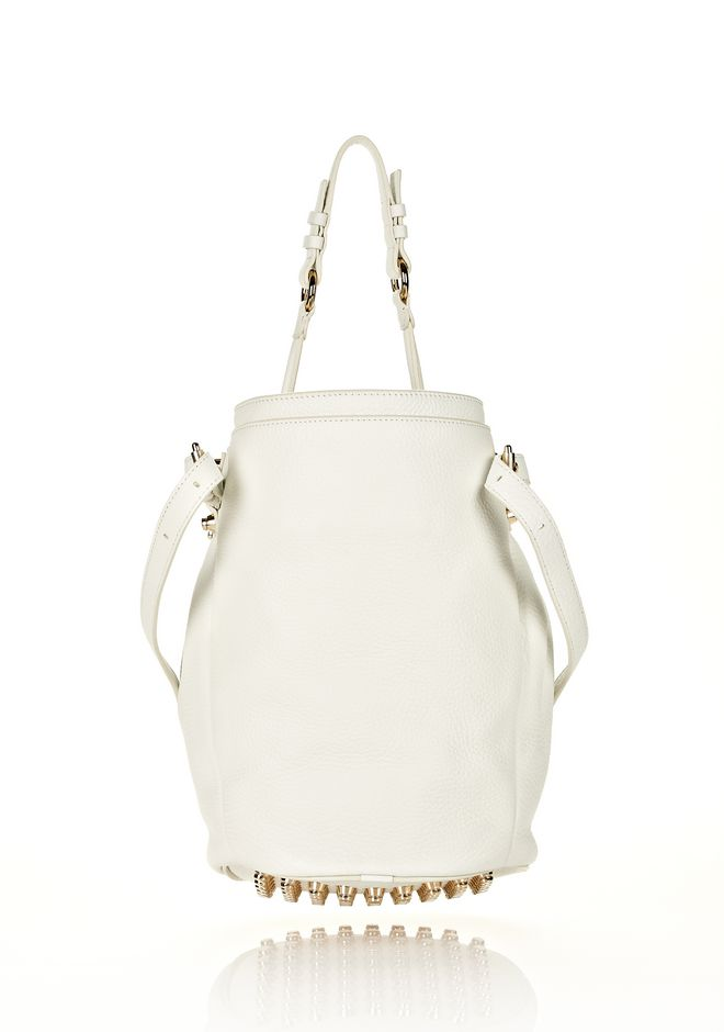 ALEXANDER WANG DIEGO IN SOFT PEROXIDE PEBBLE LEATHER WITH PALE GOLD Shoulder bag Adult 12_n_d