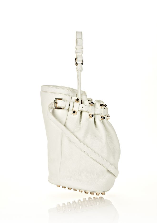 ALEXANDER WANG DIEGO IN SOFT PEROXIDE PEBBLE LEATHER WITH PALE GOLD Shoulder bag Adult 12_n_e