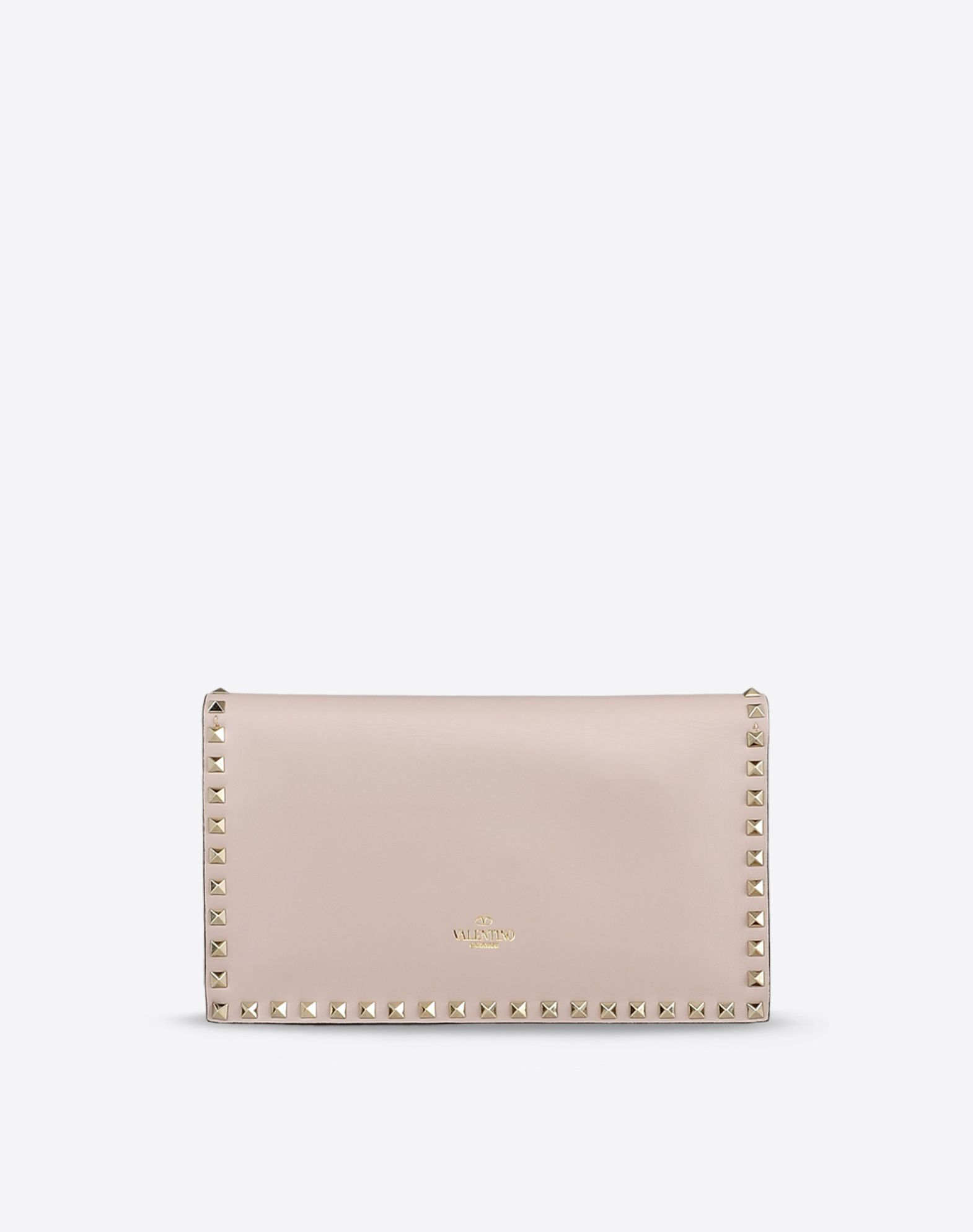 VALENTINO Solid color Magnetic closure Internal zip pocket Logo detail Etchings  45199532kv