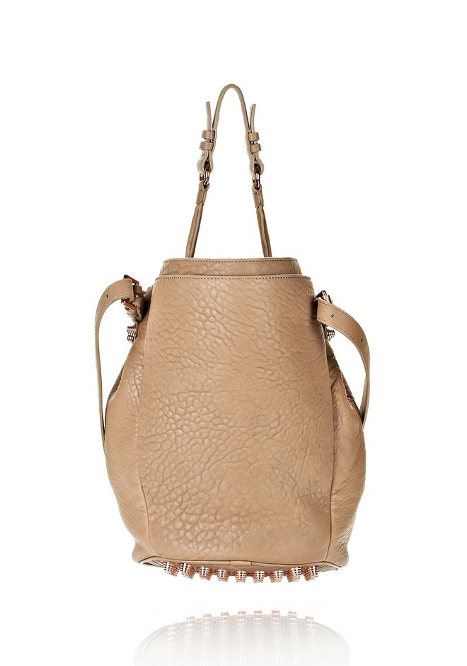 ALEXANDER WANG DIEGO IN LATTE PEBBLE LAMB WITH ROSE GOLD Shoulder bag Adult 12_n_d