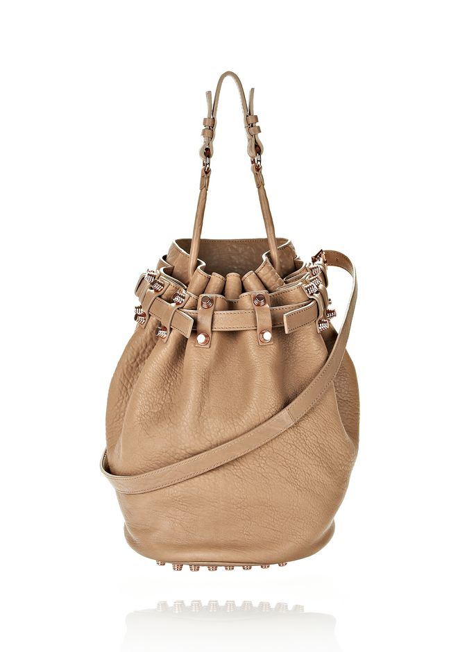 ALEXANDER WANG DIEGO IN LATTE PEBBLE LAMB WITH ROSE GOLD Shoulder bag Adult 12_n_f
