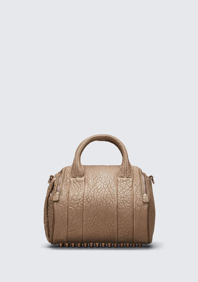 ALEXANDER WANG ROCKIE IN PEBBLED LATTE WITH ROSE GOLD Shoulder bag Adult 12_n_d