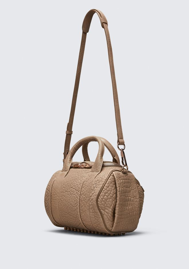 ALEXANDER WANG ROCKIE IN PEBBLED LATTE WITH ROSE GOLD Shoulder bag Adult 12_n_e