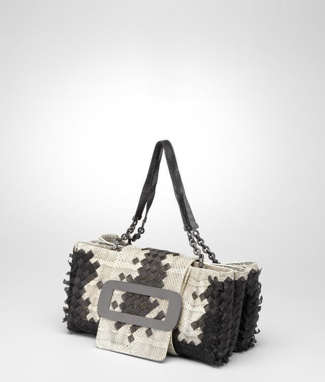 BOTTEGA VENETA Intreccio Metal Stripes Ayers Bag Top Handle Bag D fp