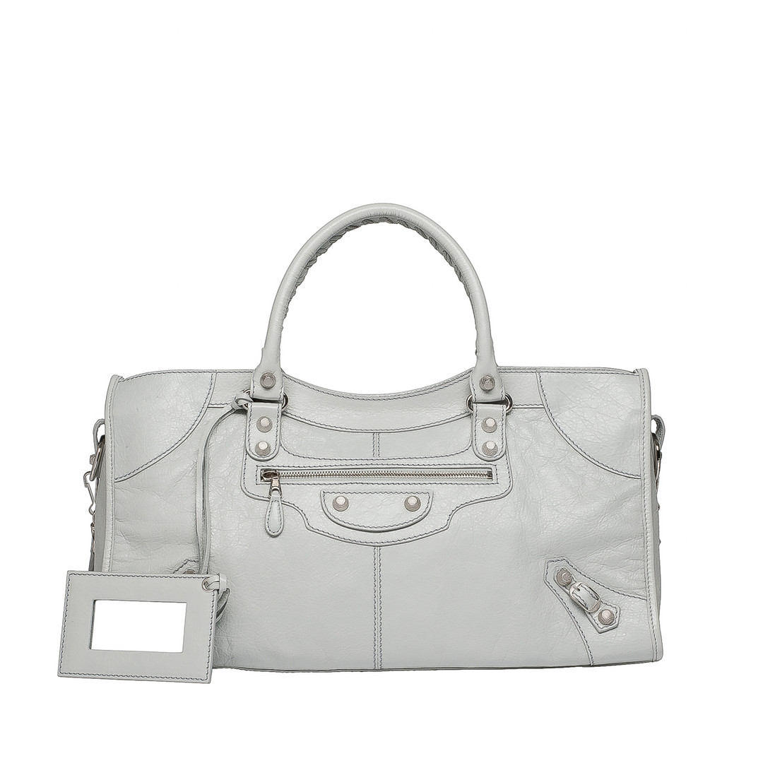 BALENCIAGA Balenciaga Giant 12 Silver Part Time Top handle bag D f