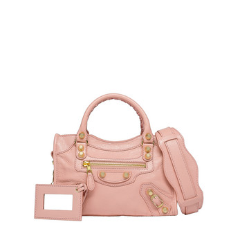 BALENCIAGA Giant Mini City Handbag D Giant 12 Gold Mini City f
