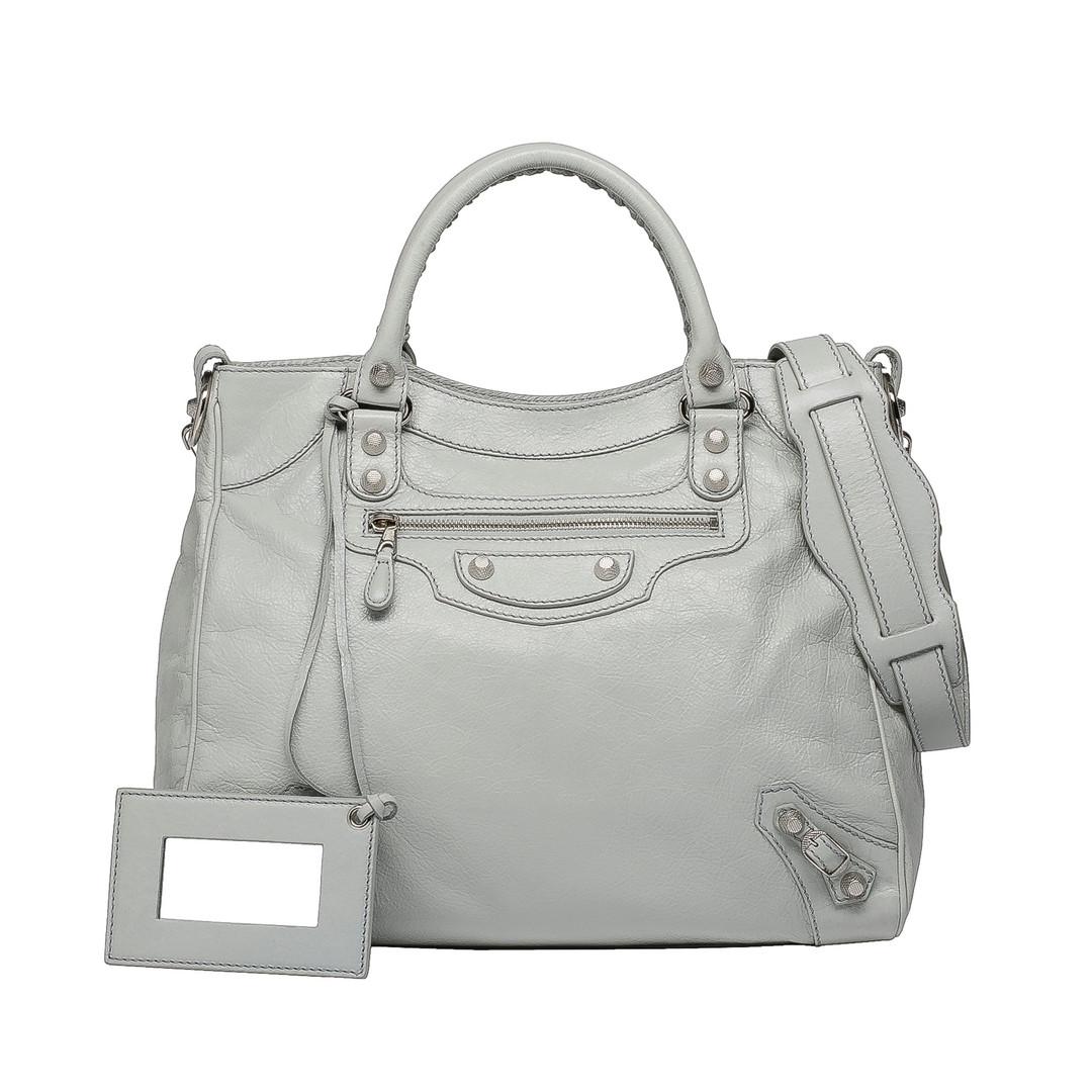 BALENCIAGA Balenciaga Giant 12 Silver Velo Cross body bag D f