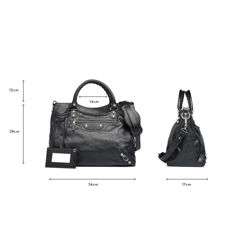 BALENCIAGA Messenger Bag D Balenciaga Giant 12 Velo Silber c