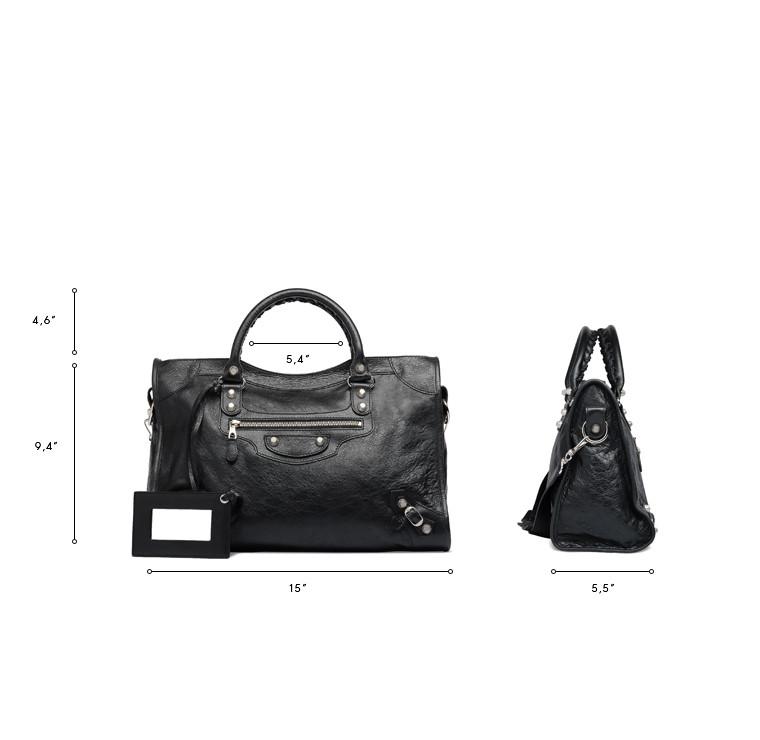 BALENCIAGA Giant City Handbags D Giant 12 Silver City n