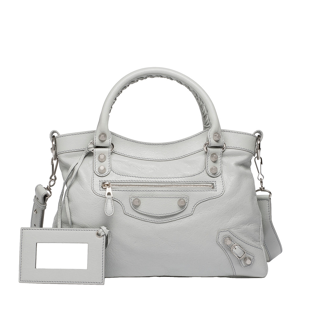 BALENCIAGA Balenciaga Giant 12 Silver Town Cross body bag D f