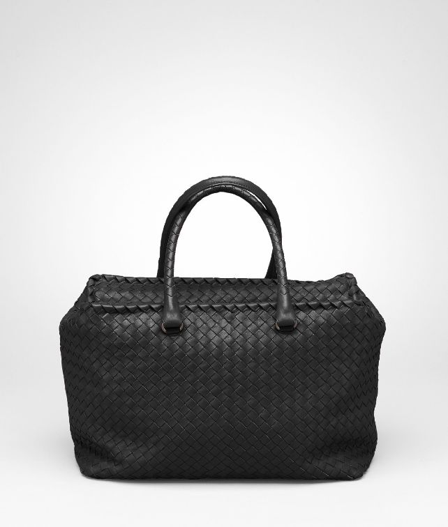 BOTTEGA VENETA Nero Intrecciato Nappa Brick Bag Top Handle Bag D fp
