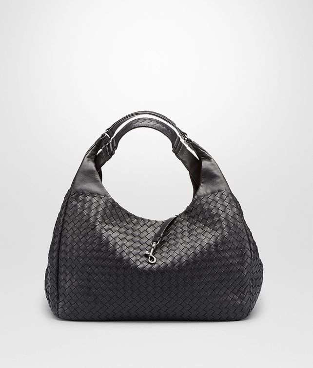 BOTTEGA VENETA LARGE CAMPANA BAG IN NERO INTRECCIATO NAPPA Shoulder or hobo bag D fp
