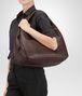 BOTTEGA VENETA Campana Bag Ebano in Nappa Intrecciata Borsa a spalla D ap