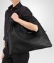 BOTTEGA VENETA MAXI CONVERTIBLE BAG IN NERO INTRECCIATO NAPPA Top Handle Bag D lp