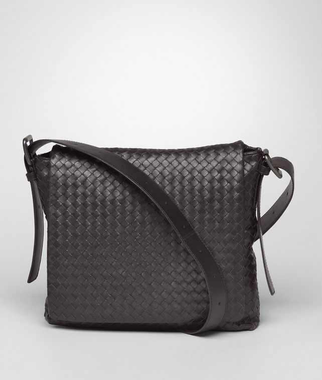 BOTTEGA VENETA Moro Intrecciato Light Calf Cross Body Messenger Messenger Bag U fp
