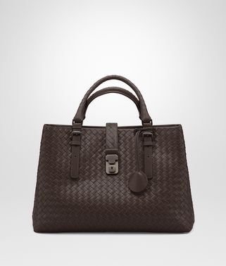MEDIUM ROMA BAG IN MORO INTRECCIATO CALF