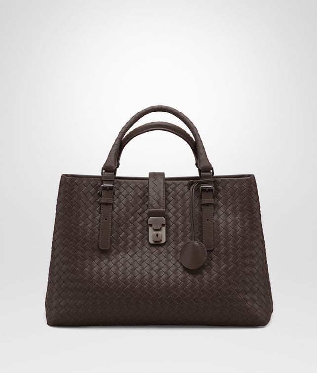 BOTTEGA VENETA MEDIUM ROMA BAG IN MORO INTRECCIATO CALF Top Handle Bag D fp