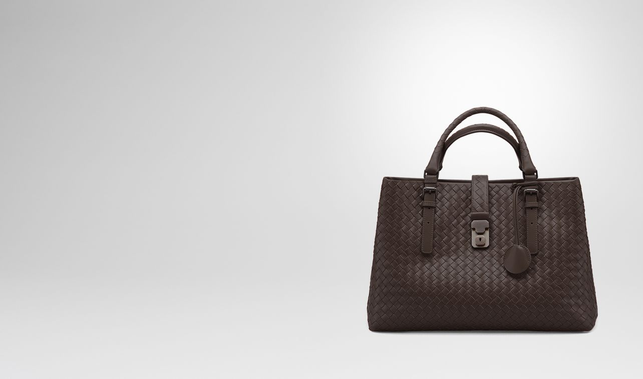 medium roma bag in moro intrecciato calf landing